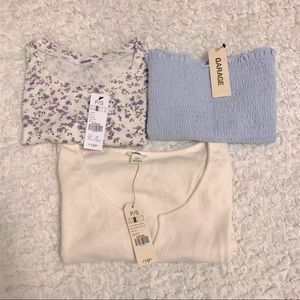 BNWT garage tops bundle